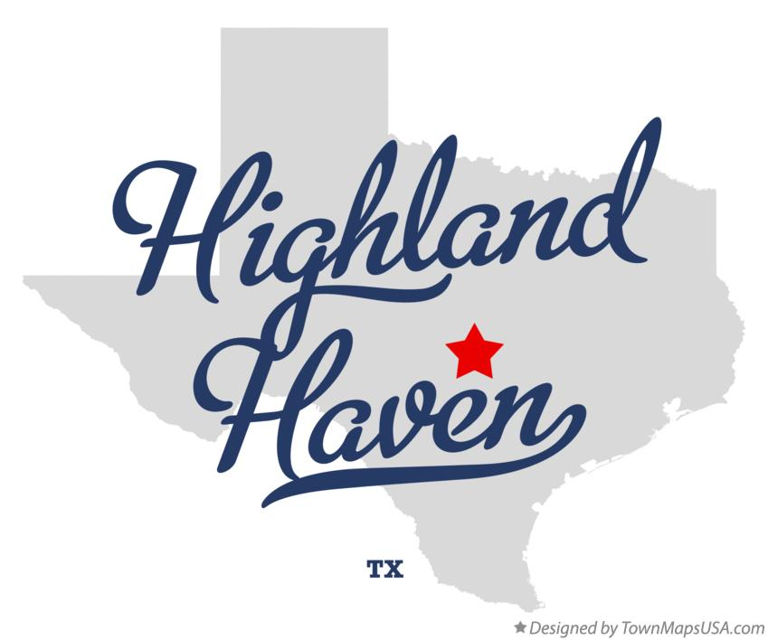 Map of Highland Haven Texas TX