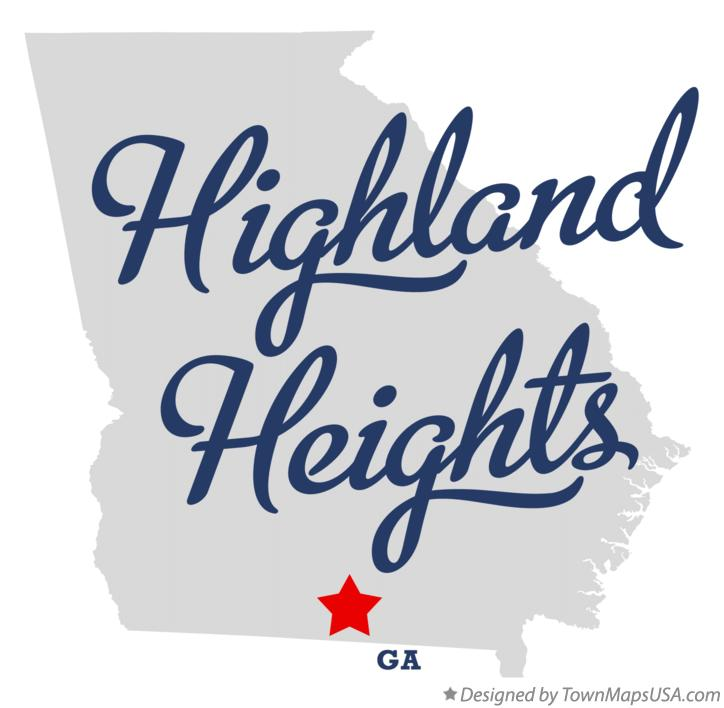 Map of Highland Heights Georgia GA