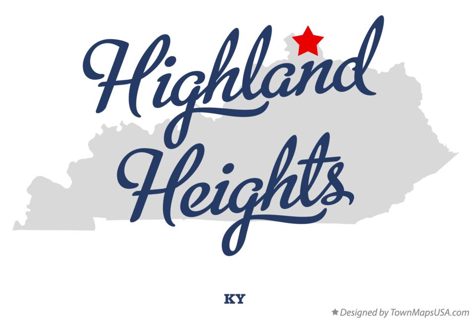Map of Highland Heights Kentucky KY
