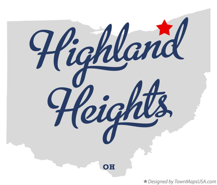 Map of Highland Heights Ohio OH