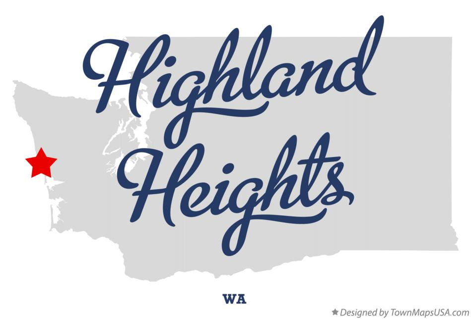 Map of Highland Heights Washington WA
