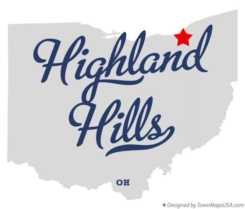 Map of Highland Hills Ohio OH