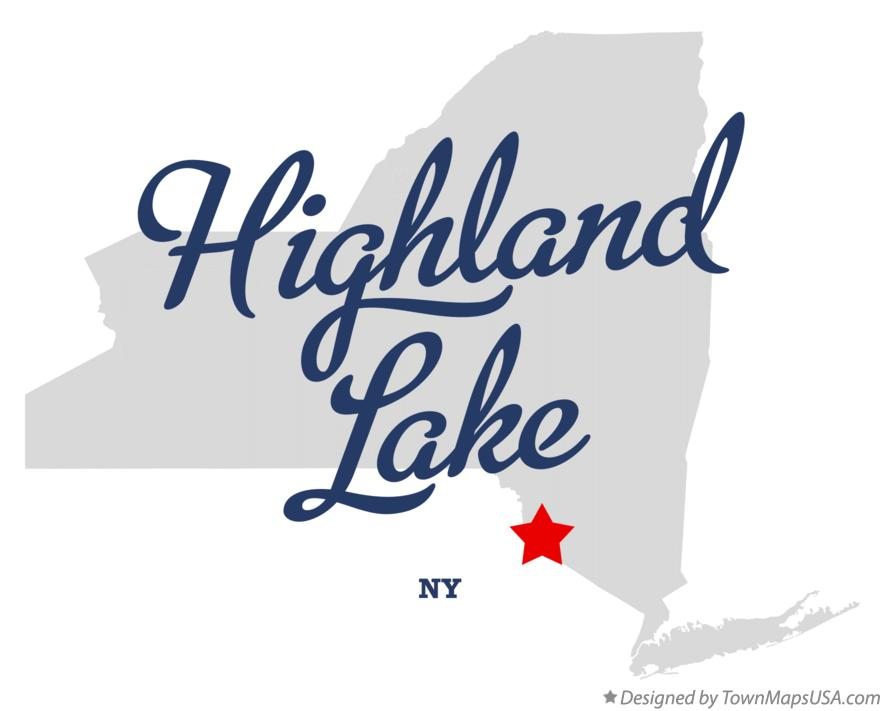 Map of Highland Lake New York NY