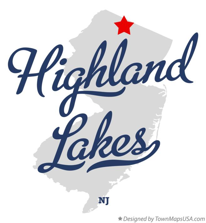 Map of Highland Lakes NJ New Jersey