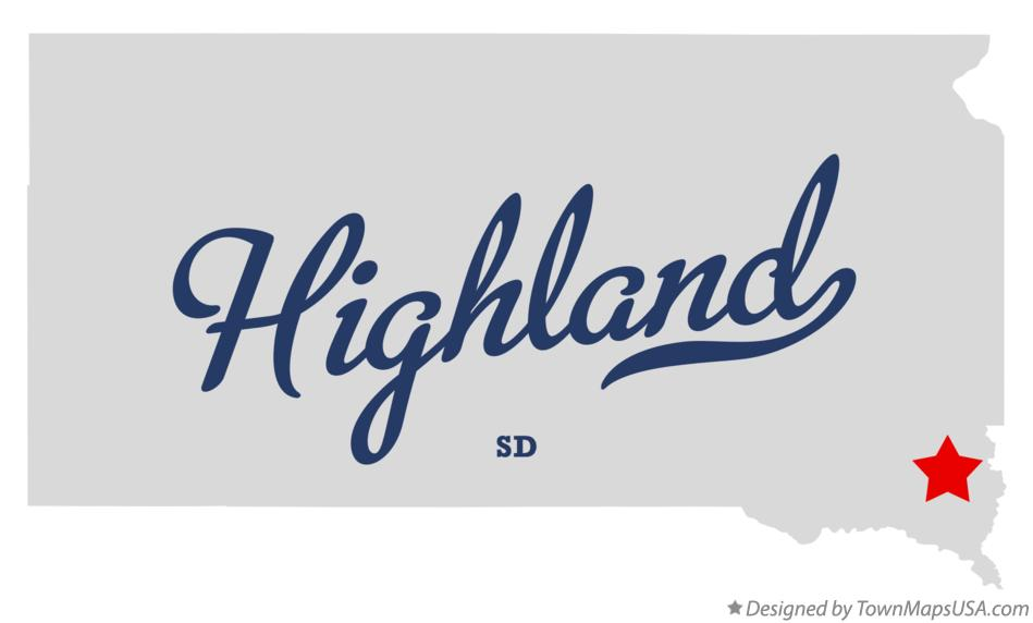 Map of Highland South Dakota SD