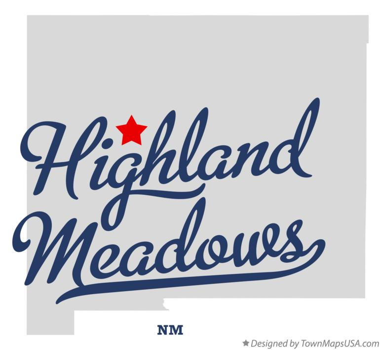 Map of Highland Meadows New Mexico NM
