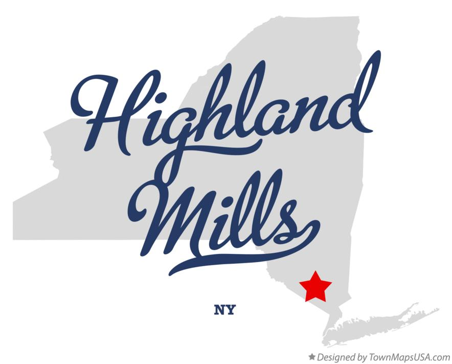 Map of Highland Mills New York NY