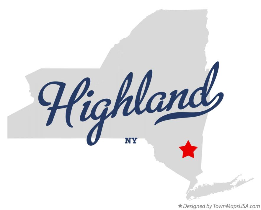 Map of Highland New York NY