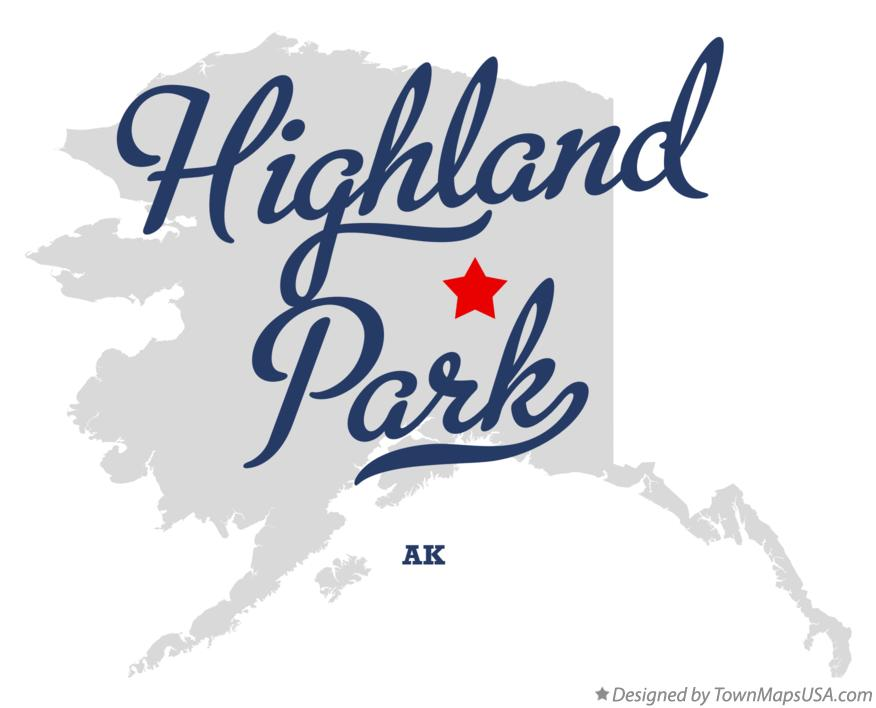 Map of Highland Park Alaska AK