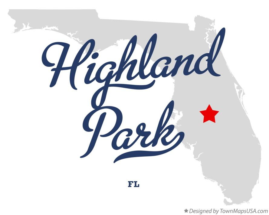 Map of Highland Park Florida FL