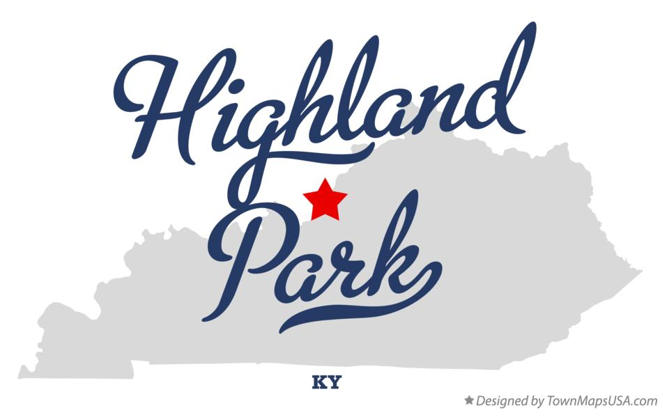 Map of Highland Park Kentucky KY