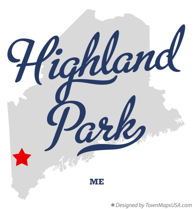Map of Highland Park Maine ME