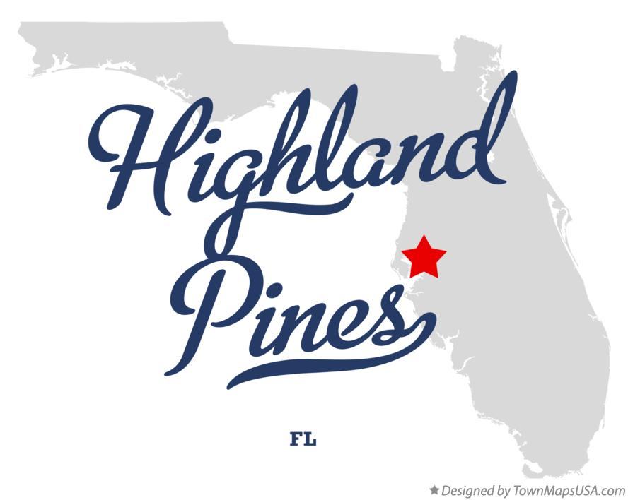 Map of Highland Pines Florida FL