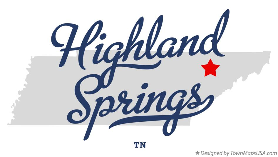 Map of Highland Springs Tennessee TN