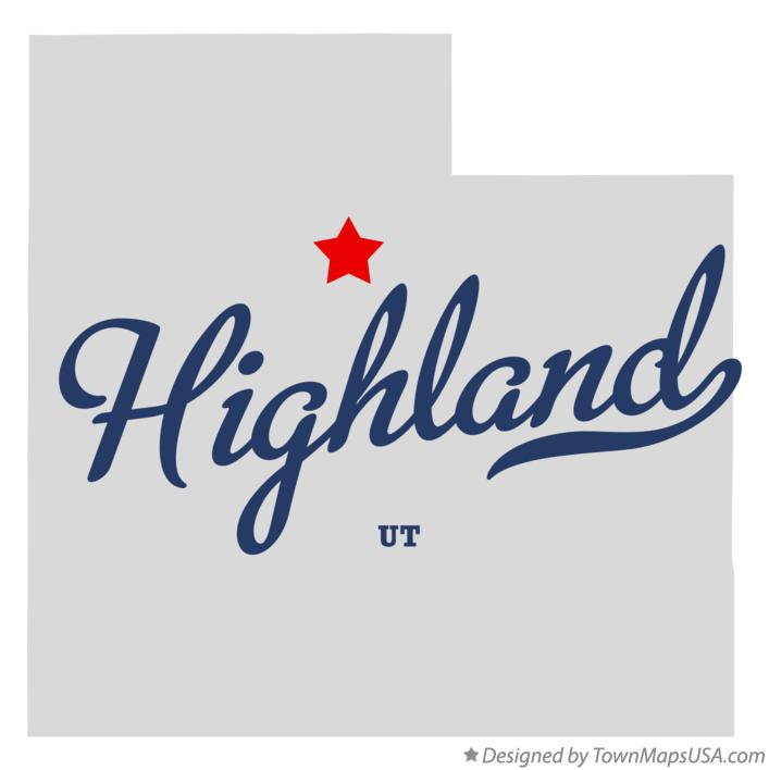 Map of Highland Utah UT