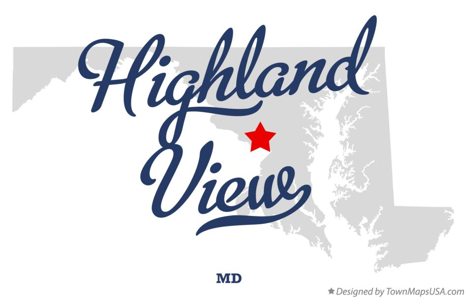 Map of Highland View Maryland MD