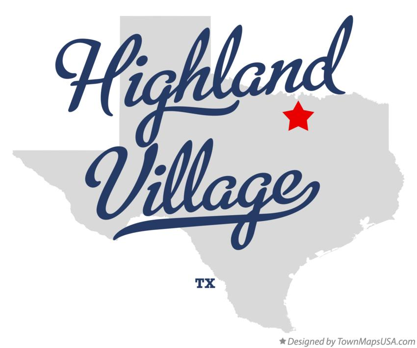 Map of Highland Village Texas TX