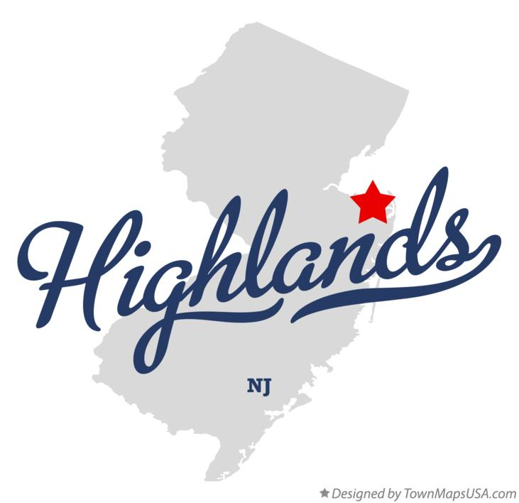 Map of Highlands New Jersey NJ