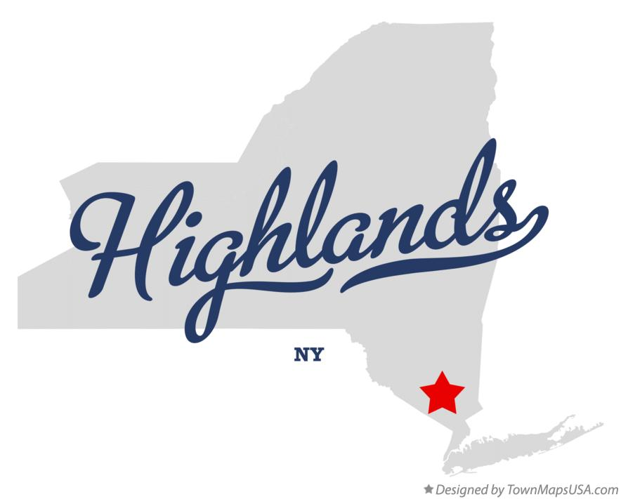 Map of Highlands New York NY