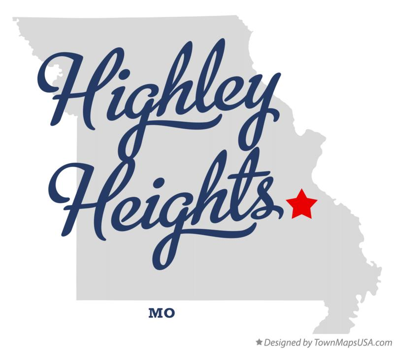 Map of Highley Heights Missouri MO