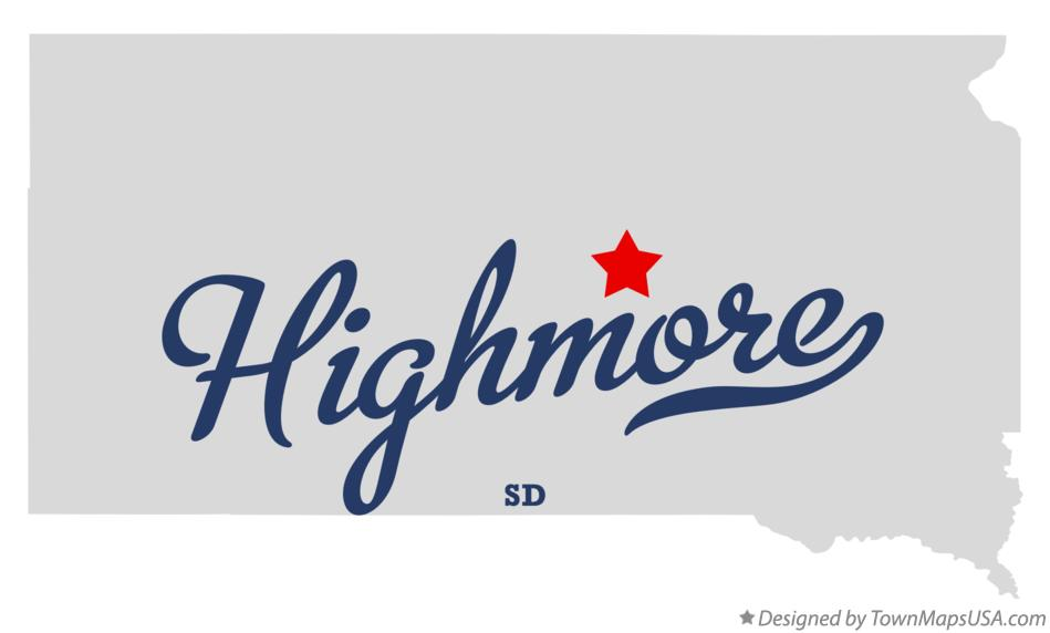 Map of Highmore South Dakota SD