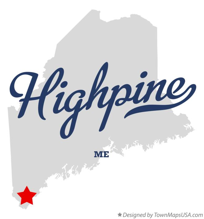 Map of Highpine Maine ME