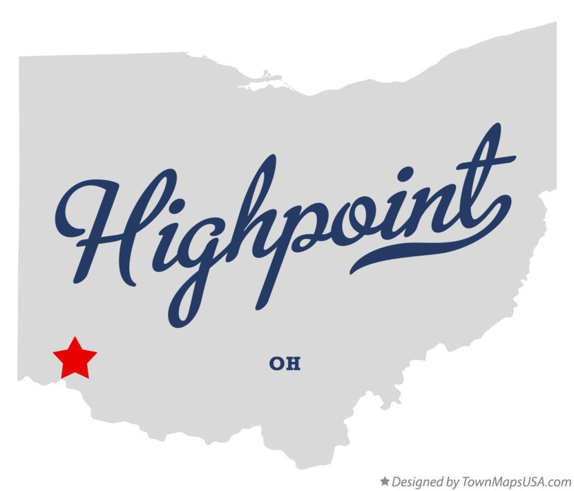 Map of Highpoint Ohio OH