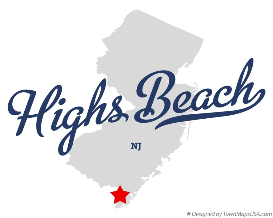 Map of Highs Beach New Jersey NJ