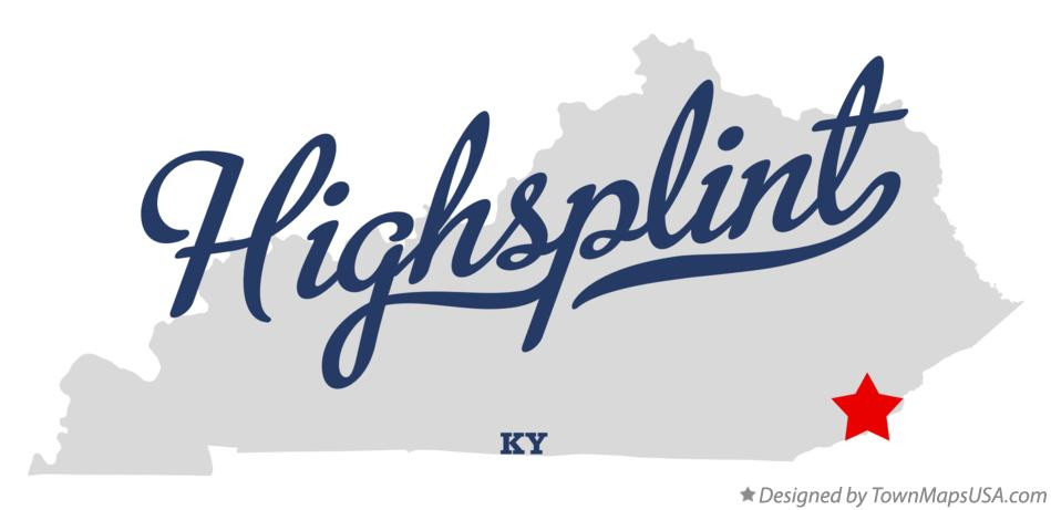 Map of Highsplint Kentucky KY