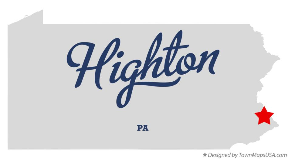 Map of Highton Pennsylvania PA