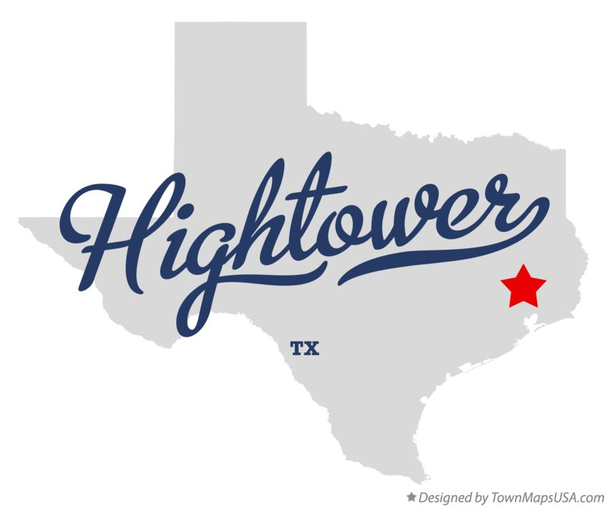 Map of Hightower Texas TX