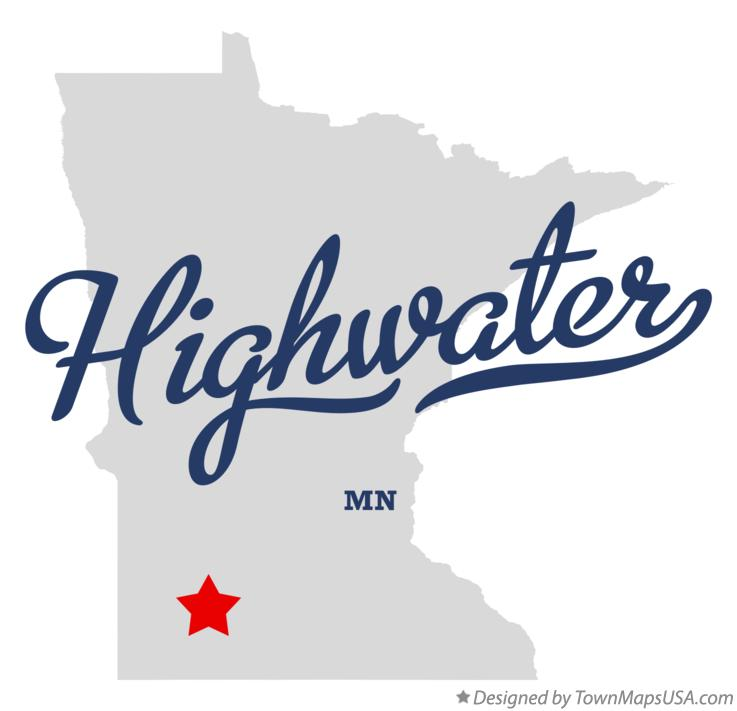 Map of Highwater Minnesota MN