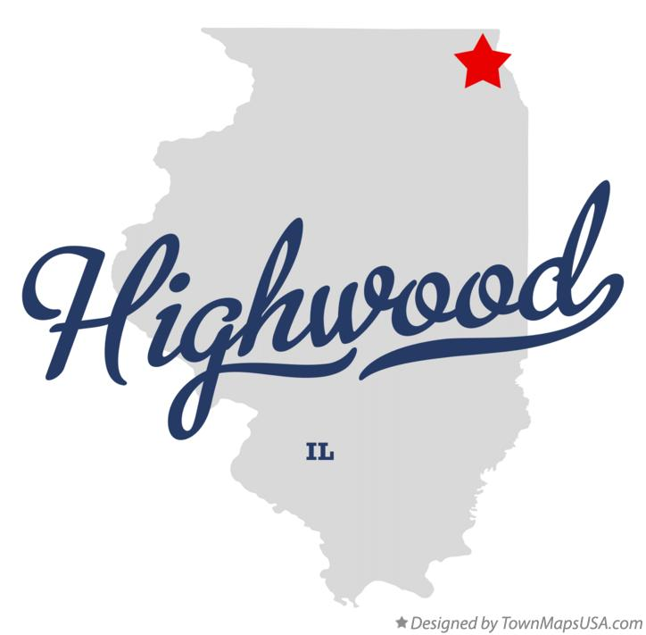 Map of Highwood Illinois IL