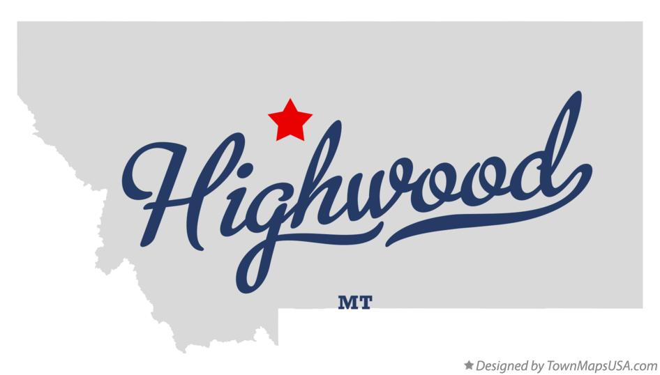 Map of Highwood Montana MT