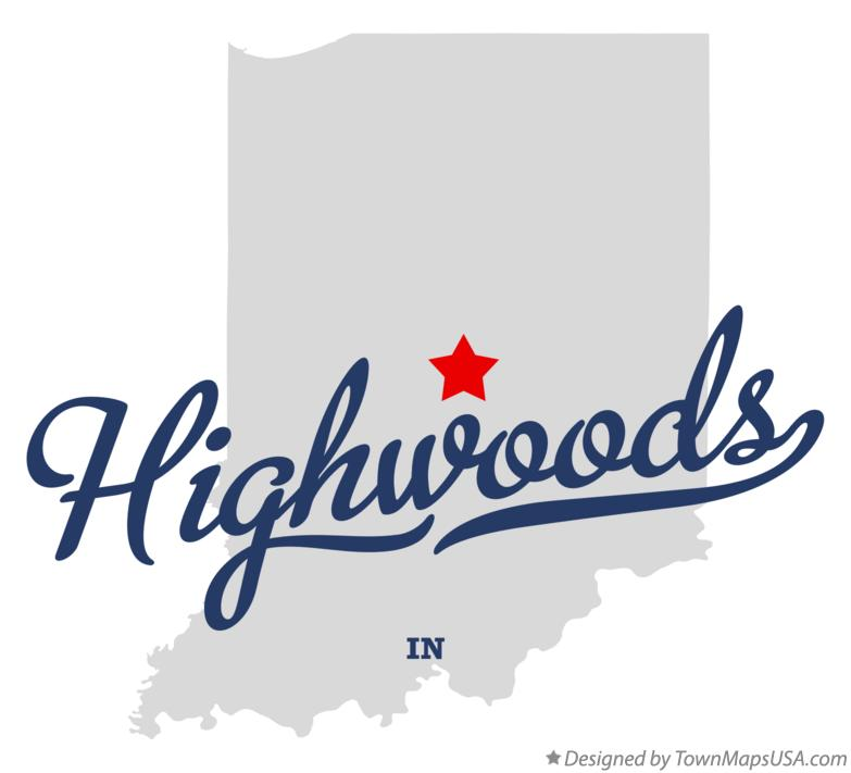 Map of Highwoods Indiana IN