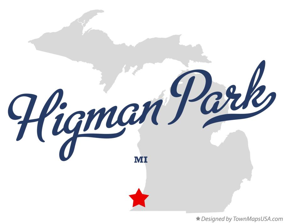 Map of Higman Park Michigan MI