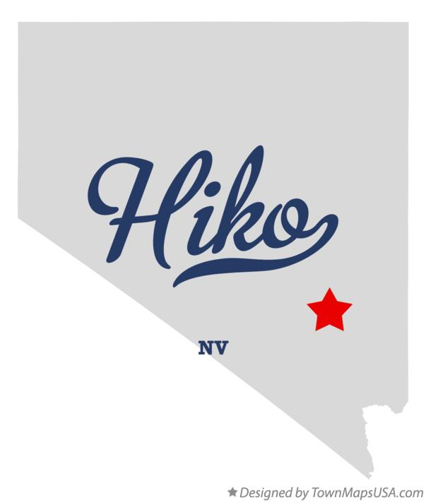 Map of Hiko Nevada NV