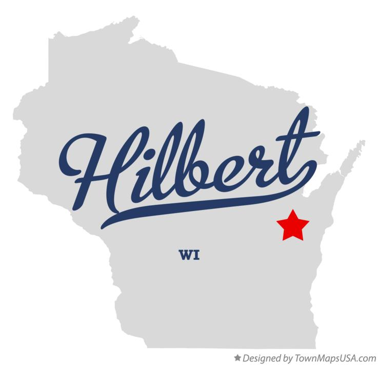Map of Hilbert Wisconsin WI
