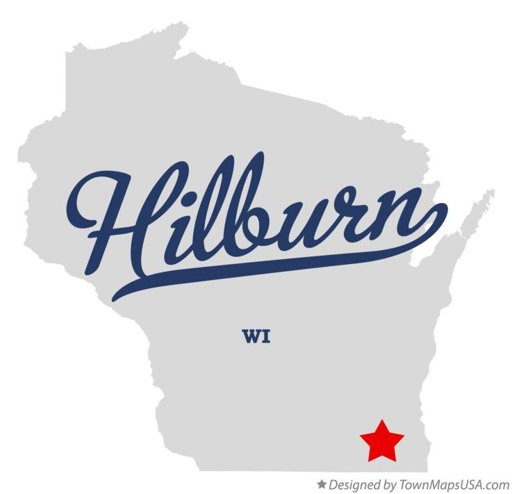 Map of Hilburn Wisconsin WI