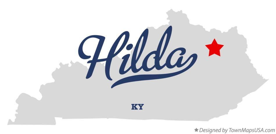 Map of Hilda Kentucky KY