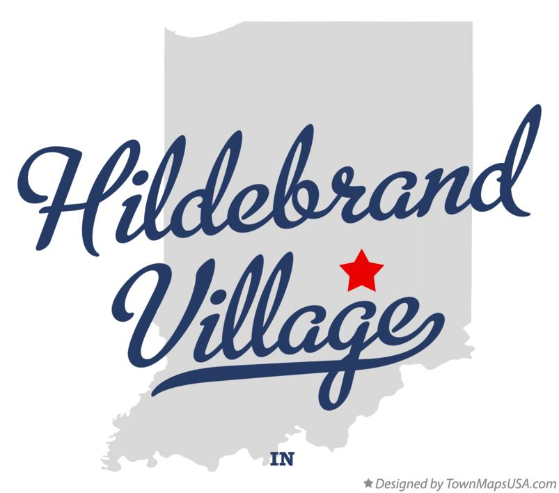 Map of Hildebrand Village Indiana IN