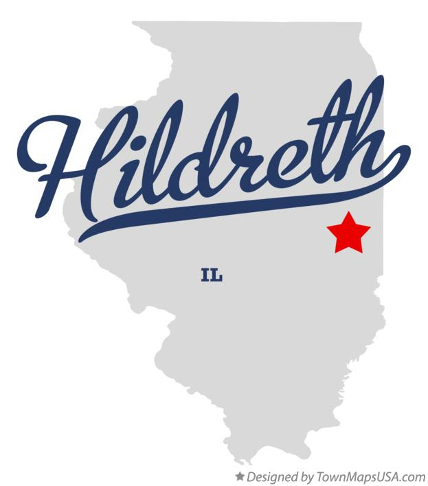 Map of Hildreth Illinois IL