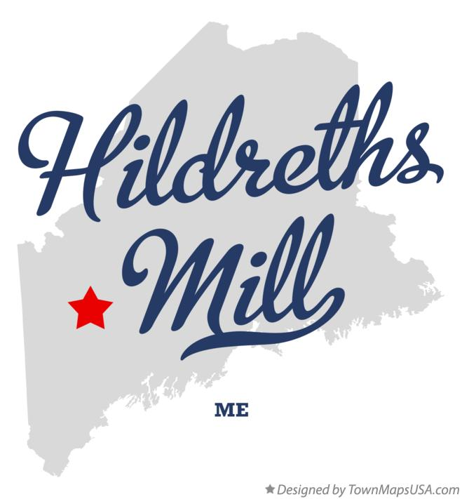 Map of Hildreths Mill Maine ME