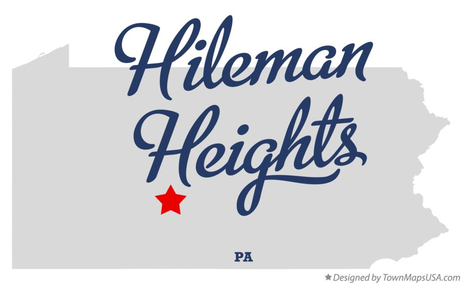 Map of Hileman Heights Pennsylvania PA