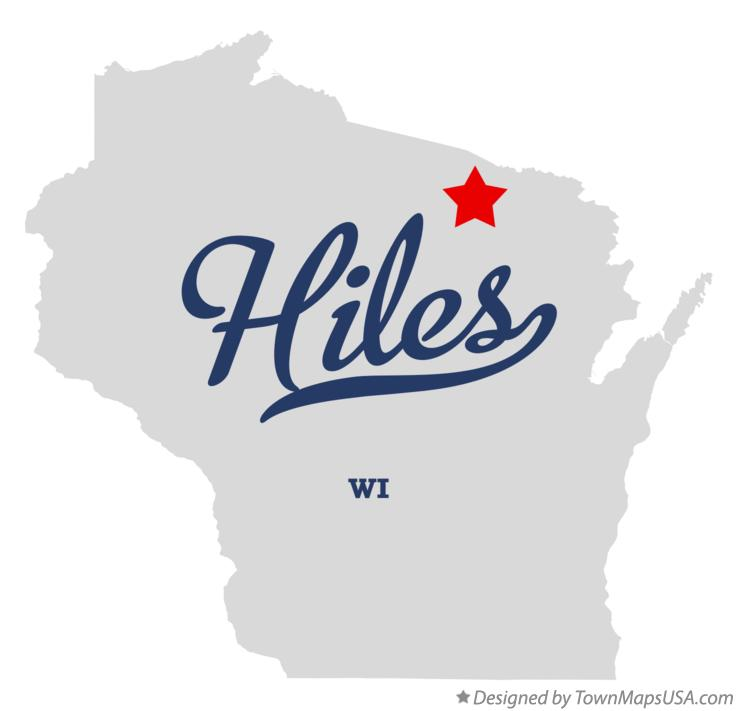 Map of Hiles Wisconsin WI