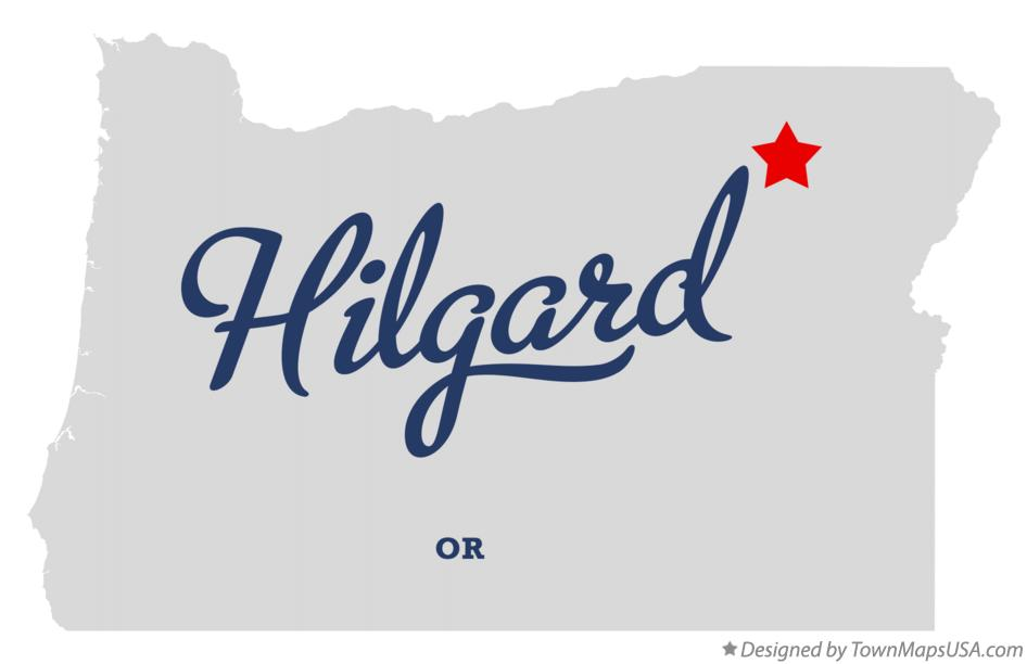 Map of Hilgard Oregon OR
