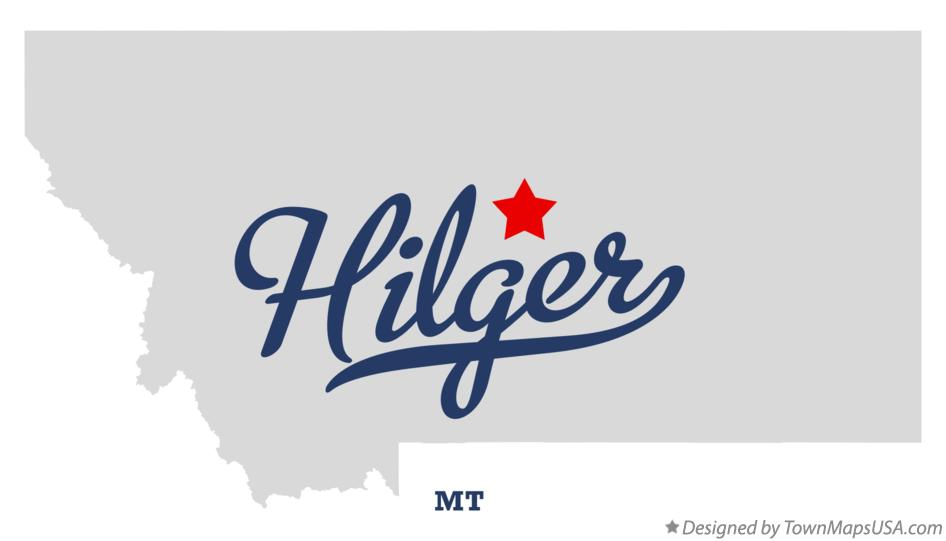 Map of Hilger Montana MT
