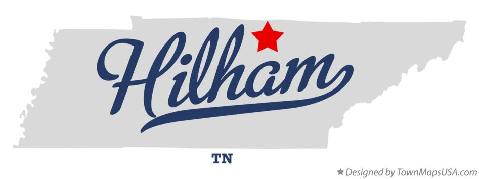 Map of Hilham Tennessee TN