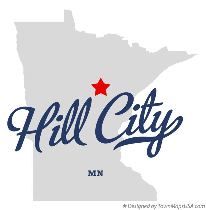 Map of Hill City Minnesota MN
