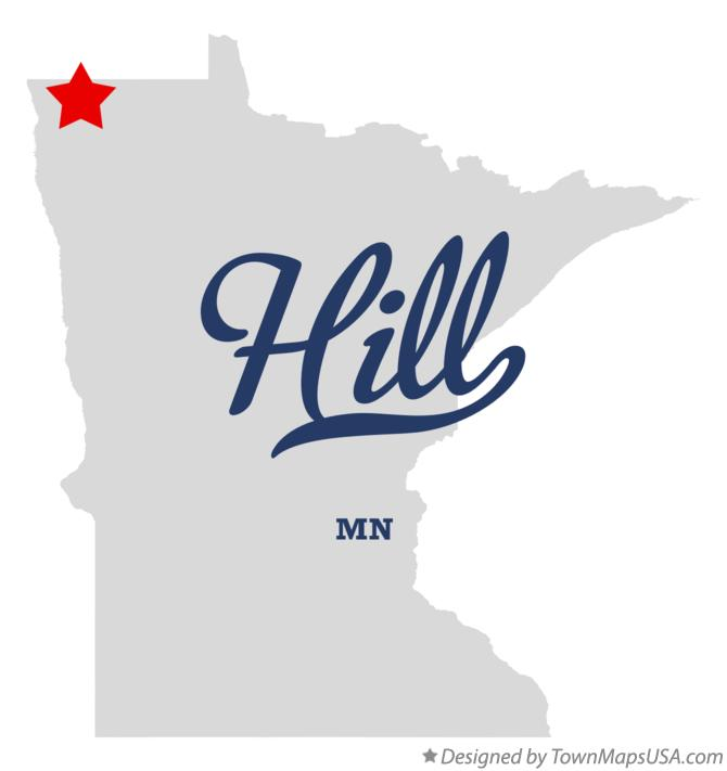 Map of Hill Minnesota MN